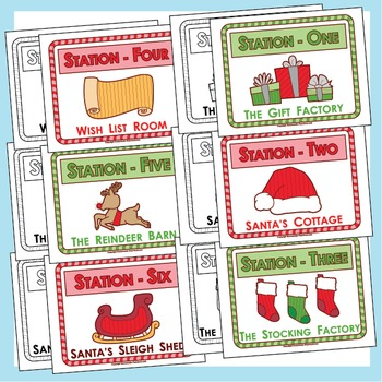 Christmas Class Party: Santa's Workshop -  COMPLETE PACK