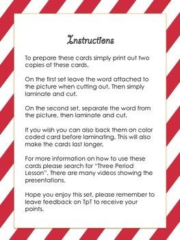 Christmas Classified Cards Flash Cards Language Montessori