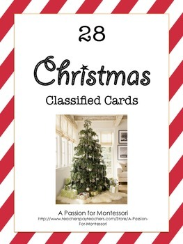 Christmas Classified Cards Flash Cards Language Montessori