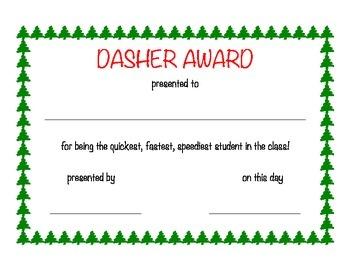 Christmas Classroom Awards