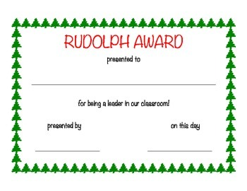 Christmas Classroom Awards
