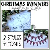Christmas Classroom Banner (Farmhouse/Shabby Chic)