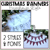 Christmas Classroom Banner (Farmhouse/Shabby Chic)