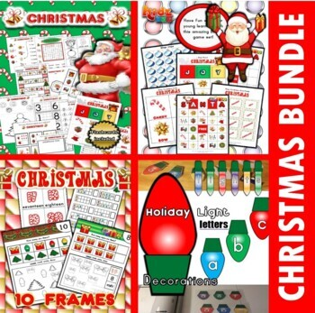 Christmas Classroom Center Activity Bundle