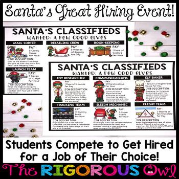 Christmas Classroom Event... Santa is Hiring!