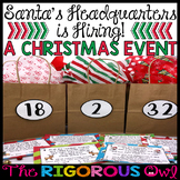 Christmas Classroom Event... Santa is Hiring!