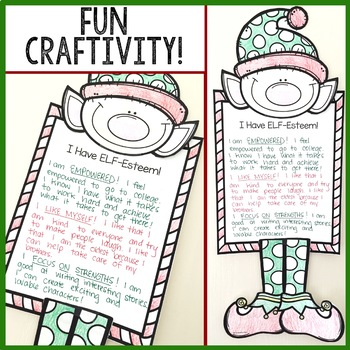 Christmas Classroom Guidance Lesson Self Esteem Activity for School Counseling