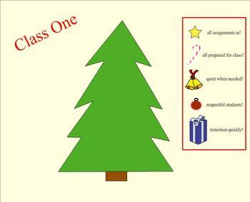 Christmas Classroom Management Tool/Game