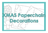 Christmas Classroom Paperchain Decorations