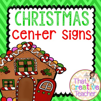 Christmas Classroom Signs