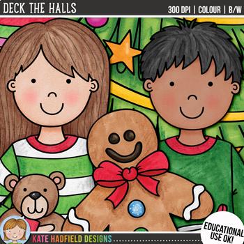 "Christmas Clip Art 3: ""Deck The Halls"""
