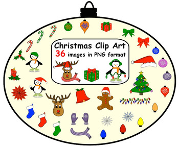 Christmas Clip Art (36 Images in PNG format)