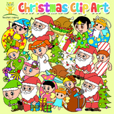 Christmas Clip Art 60 pieces color and black and white