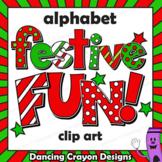 Christmas Clip Art Alphabet | Bulletin Board Letters