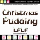Christmas Clip Art Alphabet CHRISTMAS PUDDING LFLF Printab