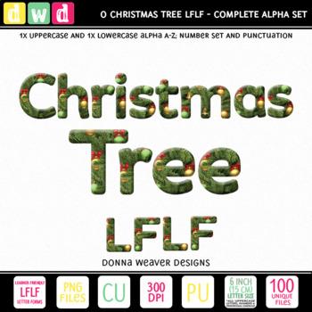 Christmas Clip Art Alphabet O CHRISTMAS TREE LFLF Printable Letters Numbers