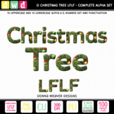 Christmas Clip Art Alphabet O CHRISTMAS TREE LFLF Printabl