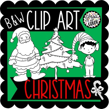 Christmas Clip Art B&W