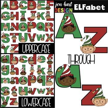 Christmas Clip Art BUNDLE- ELF Letters, Numbers, & Shapes