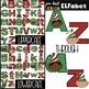 Christmas Clip Art BUNDLE- ELF Letters, Numbers, & Shapes