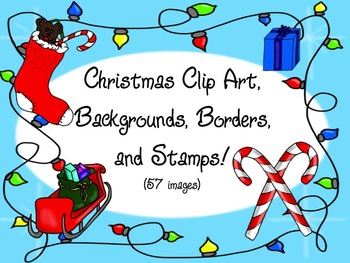 Christmas Clip Art, Backgrounds, Borders, and Stamps!