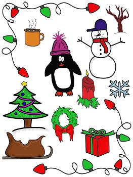 Christmas Clip Art Bundle - 40 pieces!