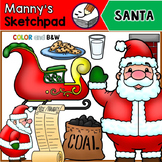 Christmas Clip Art Bundle- Santa