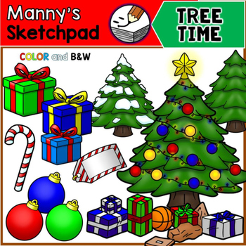 Christmas Clip Art - Tree Time