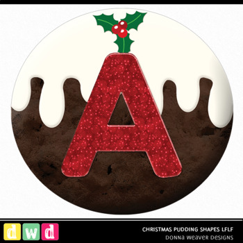 Christmas Clip Art CHRISTMAS PUDDING SHAPES LFLF Printable Letters Numbers