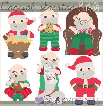Christmas Clip Art - Causal Santa Claus