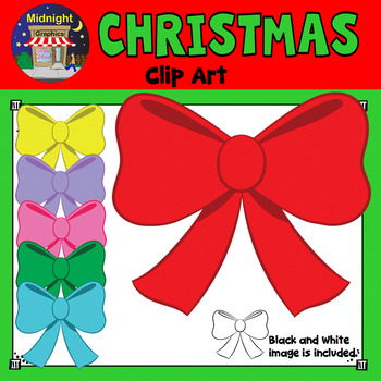 Christmas Clip Art - Christmas Bow