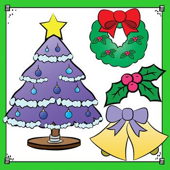 Christmas Clip Art - Christmas Bundle with Santa, Elves and Fireplace