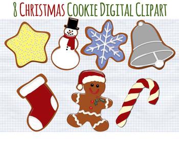Christmas Cookie Clipart.Christmas Clip Art Christmas Cookies Clipart Holiday Graphics Cookies