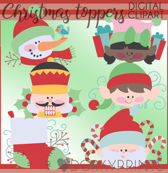 Christmas Clip Art - Christmas Toppers