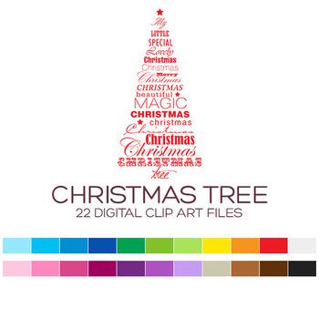 Christmas Clip Art / Christmas Tree Clip Art - A90004