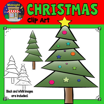 Christmas Clip Art - Christmas Tree - Green