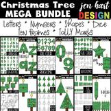 Christmas Clip Art- Christmas Tree Mega BUNDLE {jen hart Clip Art}