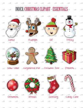 Christmas Clip Art, Clipart - Essentials Pack - Santa, Artwork - Christmas Fun