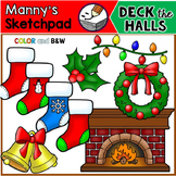 Christmas Clip Art - Deck the Halls