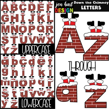 Christmas Clip Art - Down the Chimney Letters