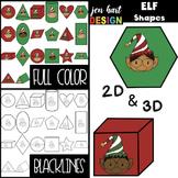 Christmas Clip Art -ELF 2D & 3D Shapes