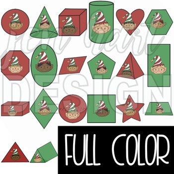 Christmas Clip Art -ELF 2D & 3D Shapes