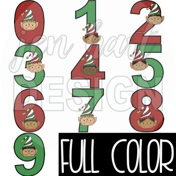 Christmas Clip Art - ELF Numbers