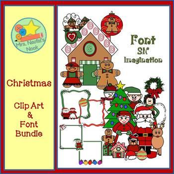 Christmas Clip Art & Font Bundle