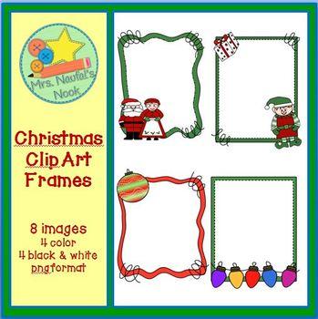 Christmas Clip Art Frames Freebie