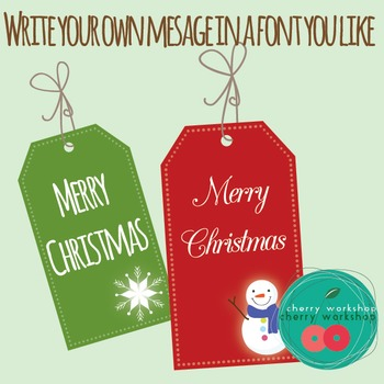 Christmas Clip Art - Gift Tags {Commercial Use}