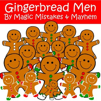 Christmas Clip Art- Gingerbread Me