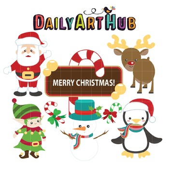 Christmas Clip Art - Great for Art Class Projects!