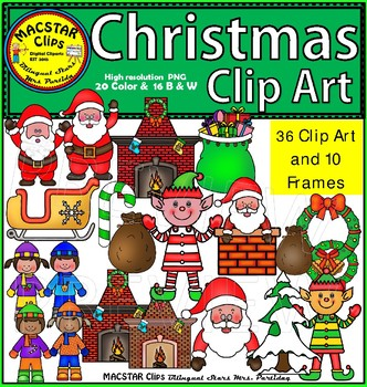 Christmas Clip Art  MEGA Bundle Personal and Commercial Use