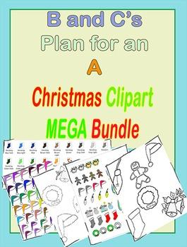 Christmas Clip Art MEGA Bundle and Connect the Dots bonus!